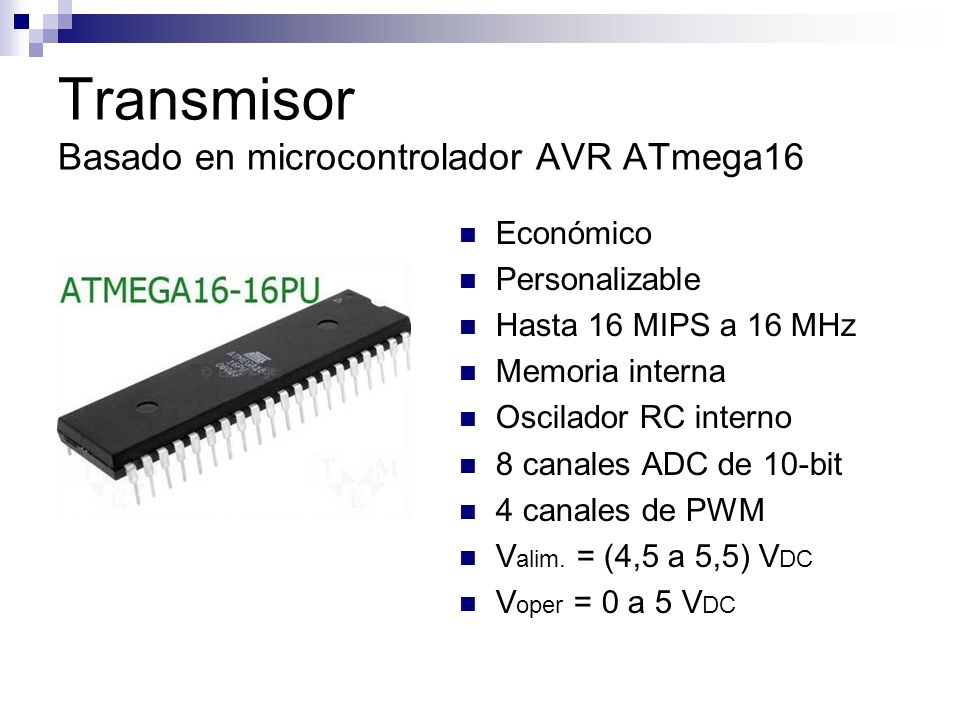 Transmisor Basado en microcontrolador AVR ATmega16