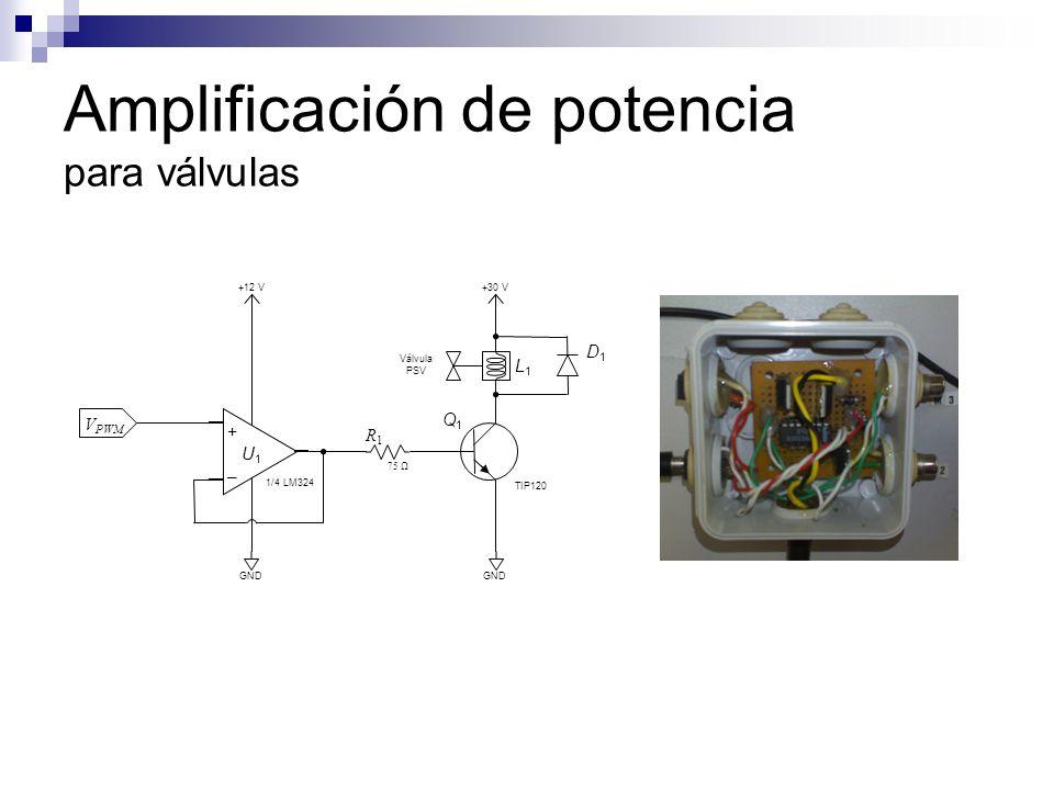 Amplificación de potencia para válvulas