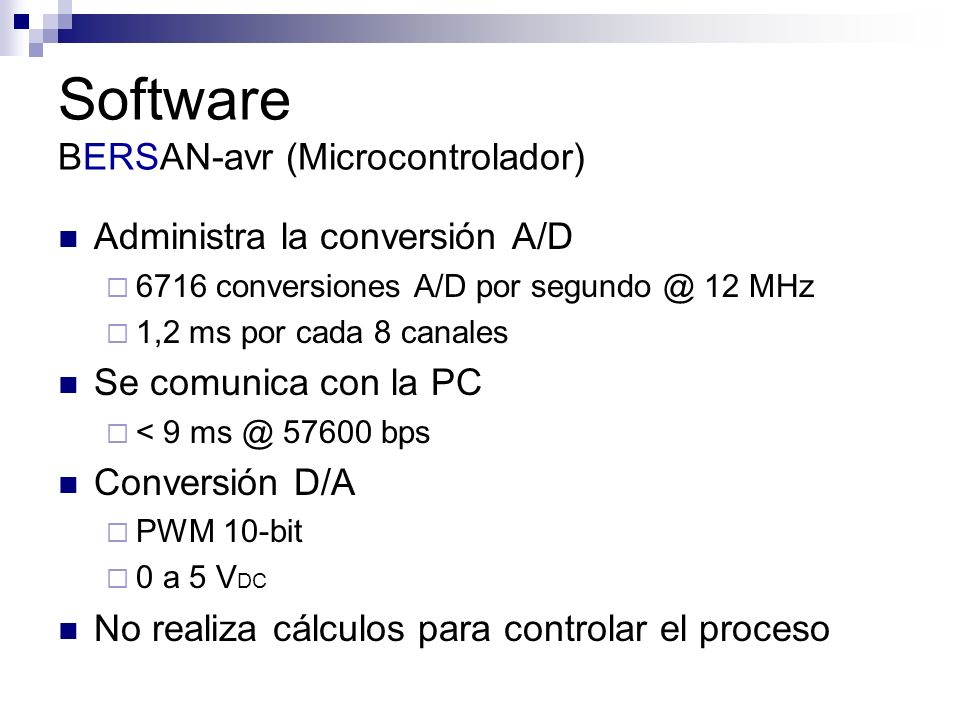 Software BERSAN-avr (Microcontrolador)