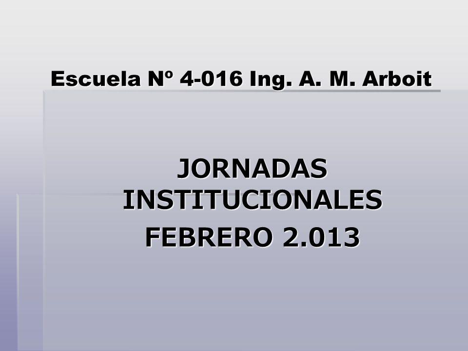 Escuela Nº 4-016 Ing. A. M. Arboit