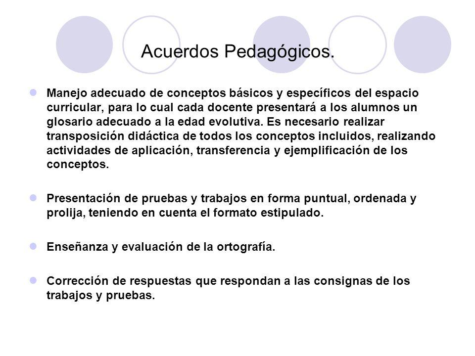 Acuerdos Pedagógicos.
