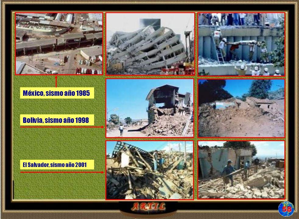 58 México, sismo año 1985 Bolivia, sismo año 1998