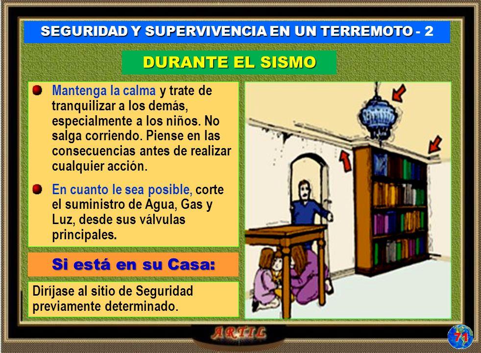 SEGURIDAD Y SUPERVIVENCIA EN UN TERREMOTO - 2