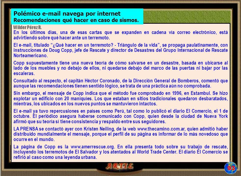 Polémico e-mail navega por internet