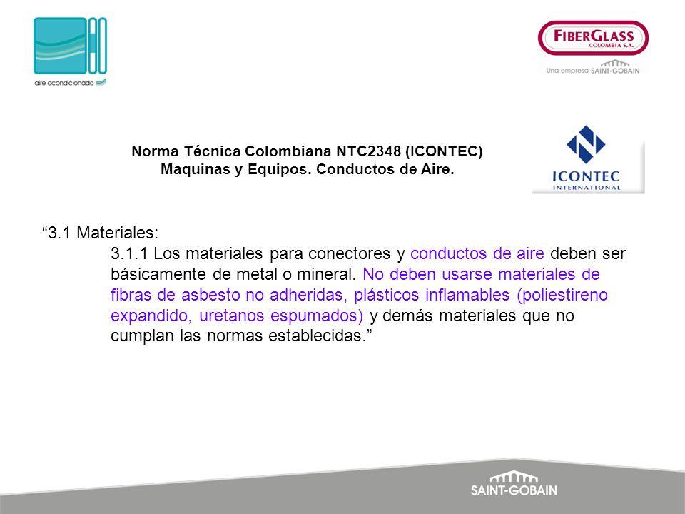 Norma Técnica Colombiana NTC2348 (ICONTEC) Maquinas y Equipos