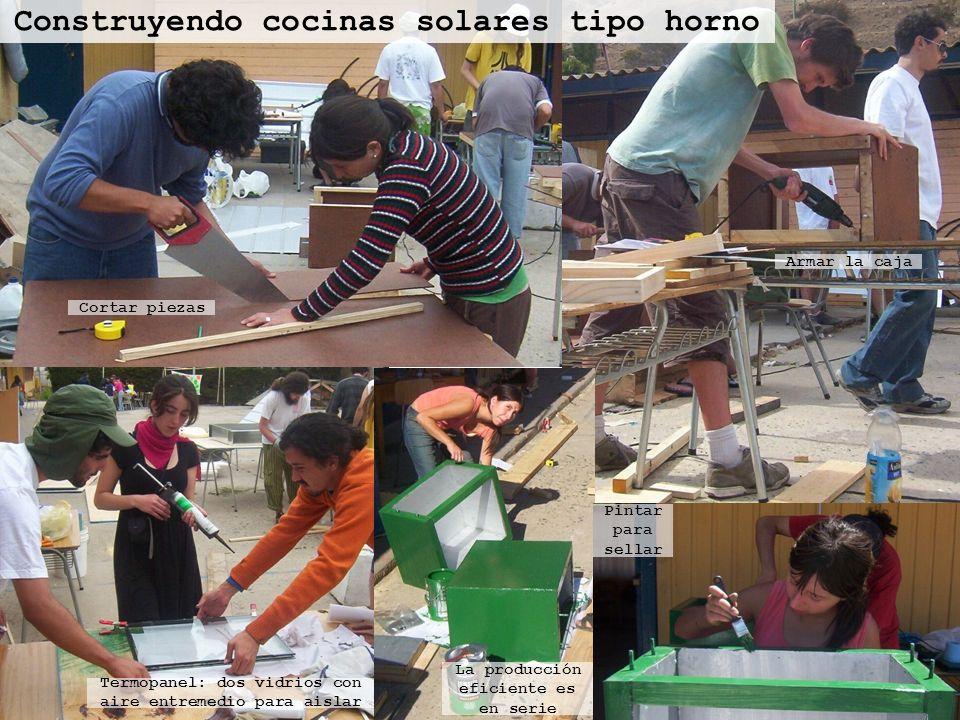 Construyendo cocinas solares tipo horno