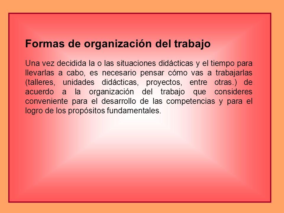 Formas de organización del trabajo