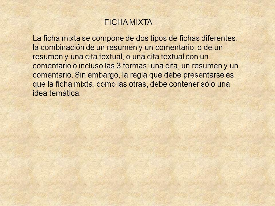 FICHA MIXTA