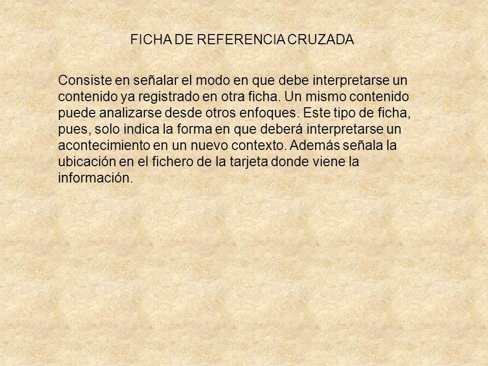 FICHA DE REFERENCIA CRUZADA