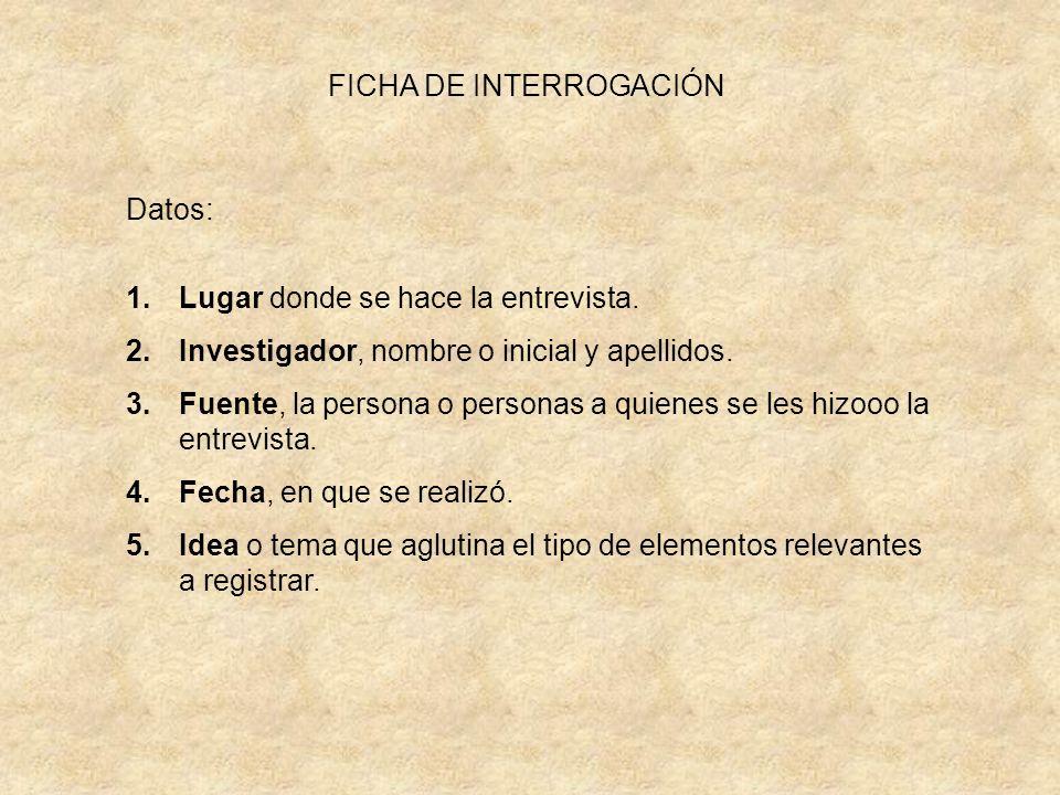 FICHA DE INTERROGACIÓN