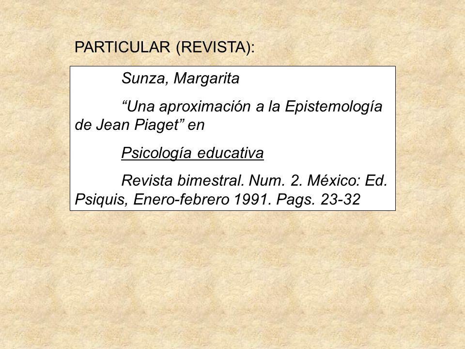 PARTICULAR (REVISTA):