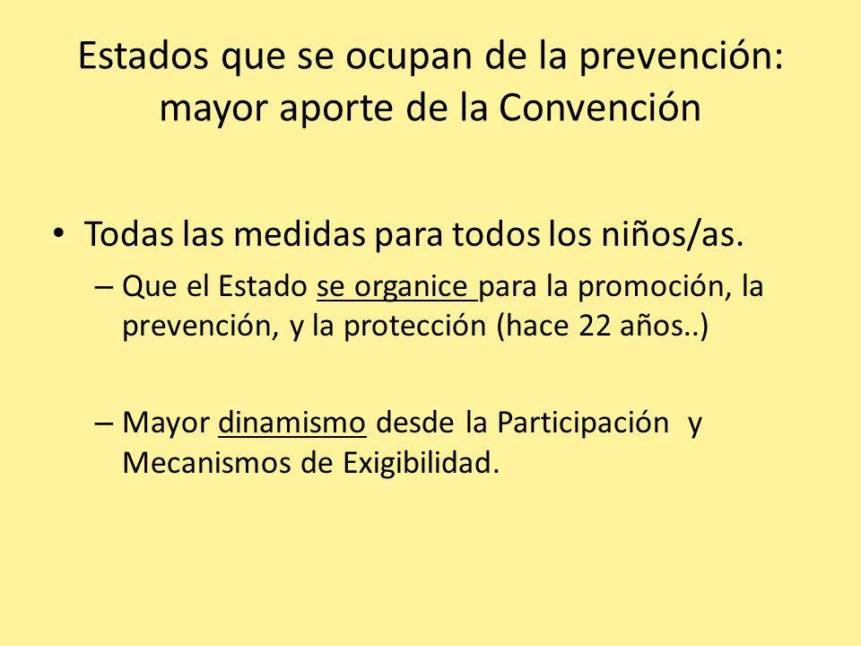 Estados que se ocupan de la prevención: mayor aporte de la Convención