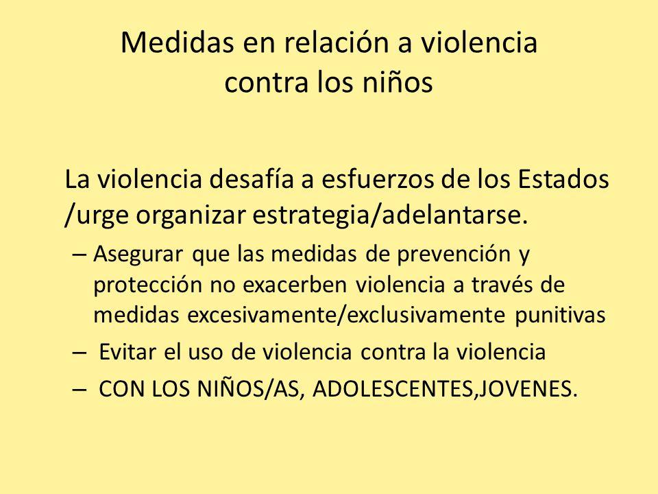 Medidas en relación a violencia contra los niños