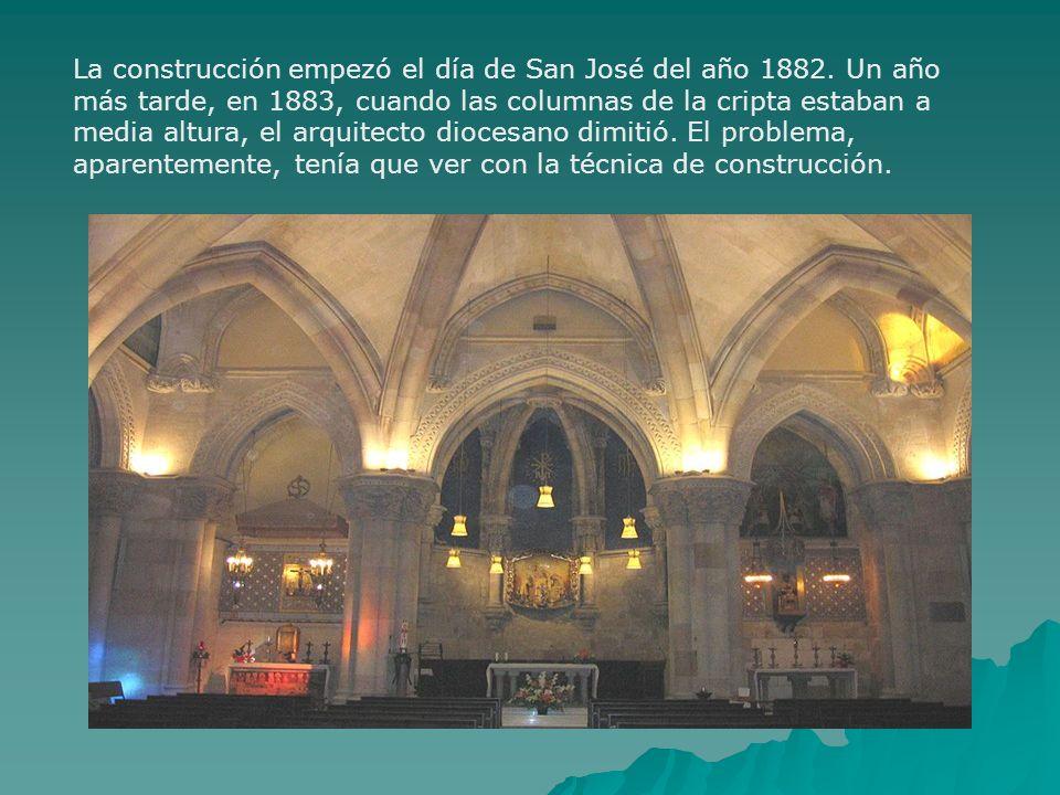 La construcción empezó el día de San José del año 1882