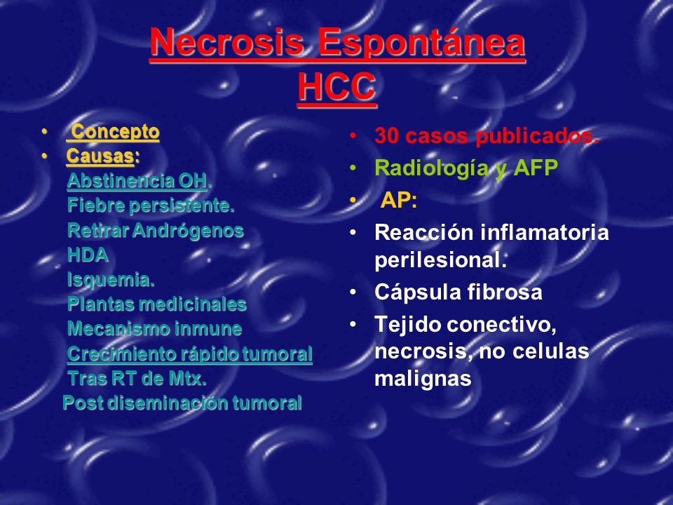 Necrosis Espontánea HCC