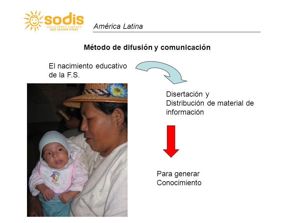 América Latina Método de difusión y comunicación. El nacimiento educativo. de la F.S. Disertación y.