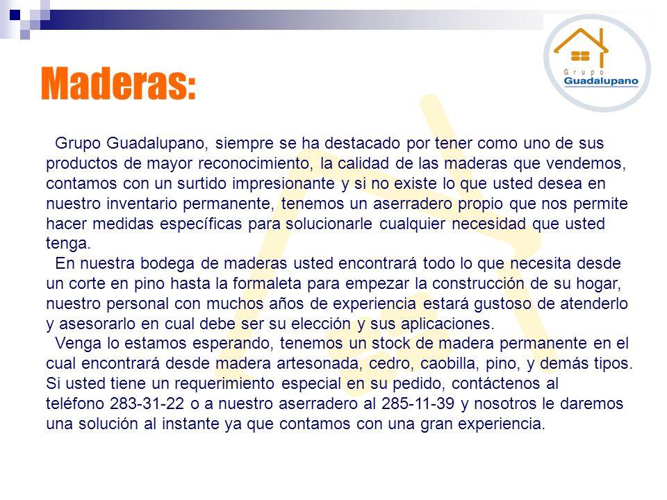 Maderas: