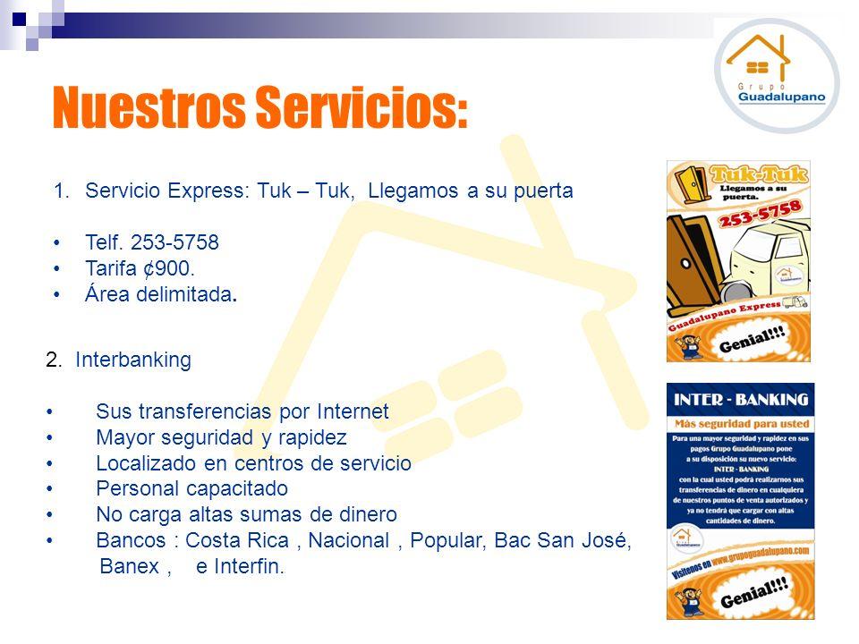 Nuestros Servicios: Servicio Express: Tuk – Tuk, Llegamos a su puerta