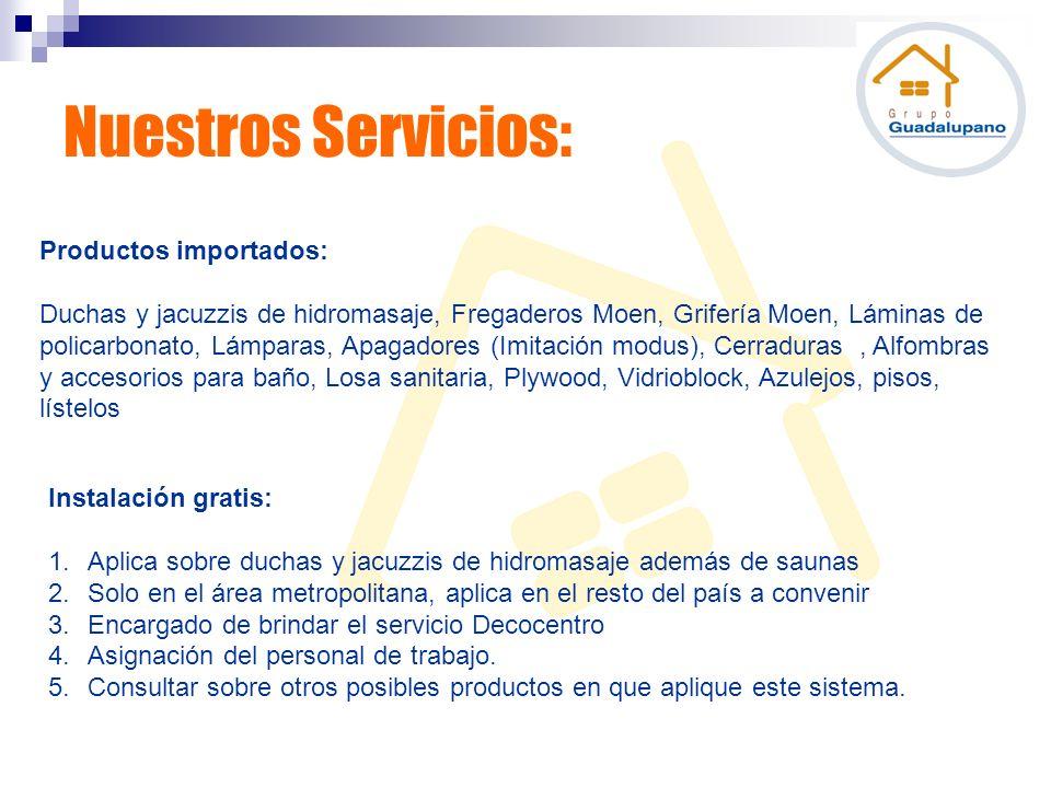 Nuestros Servicios: Productos importados: