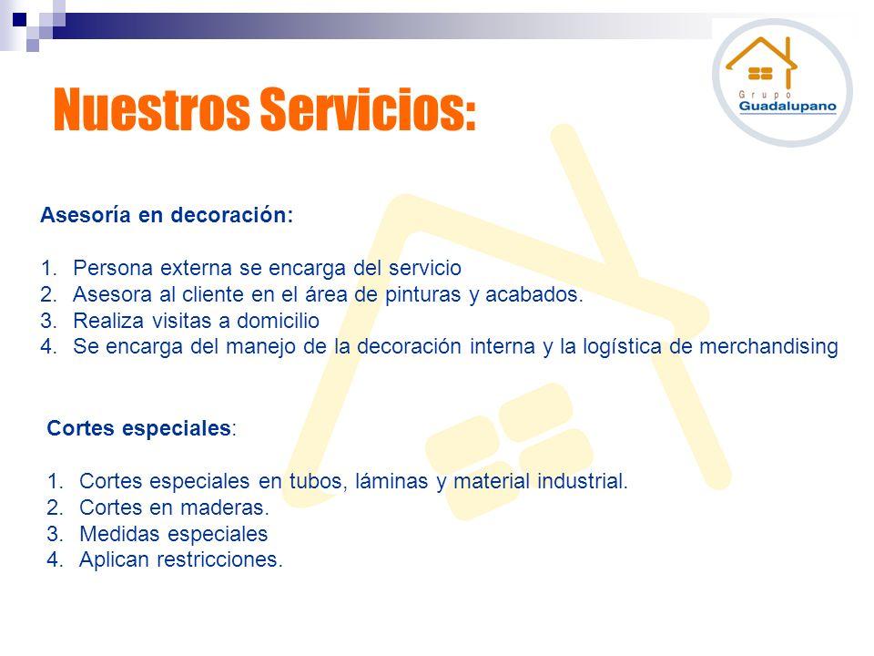 Nuestros Servicios: Asesoría en decoración: