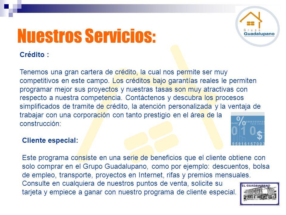 Nuestros Servicios: Crédito :