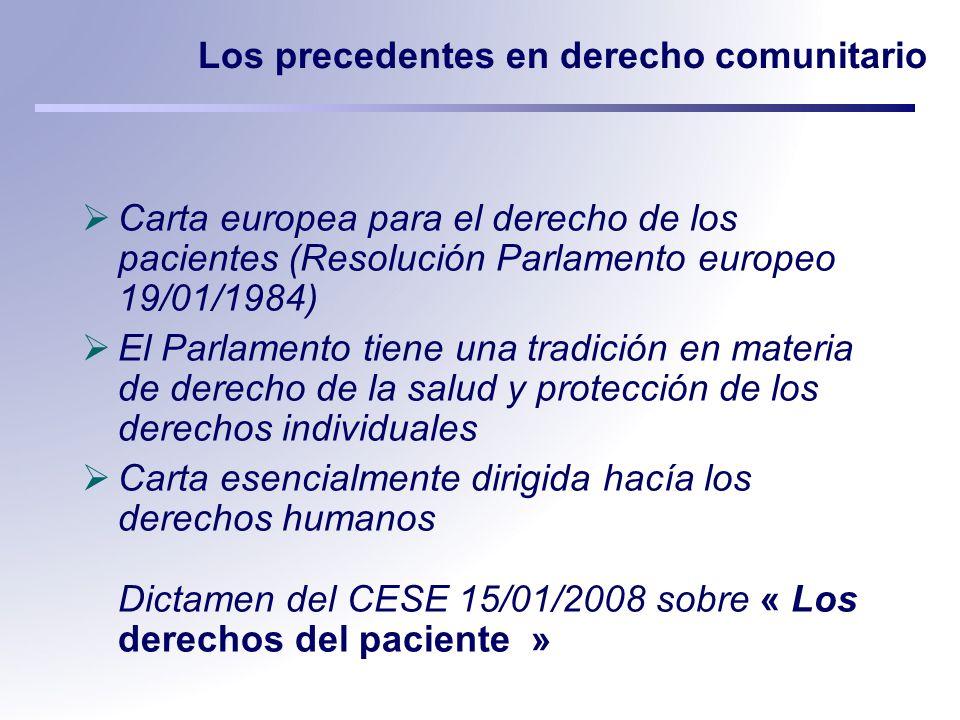 Los precedentes en derecho comunitario