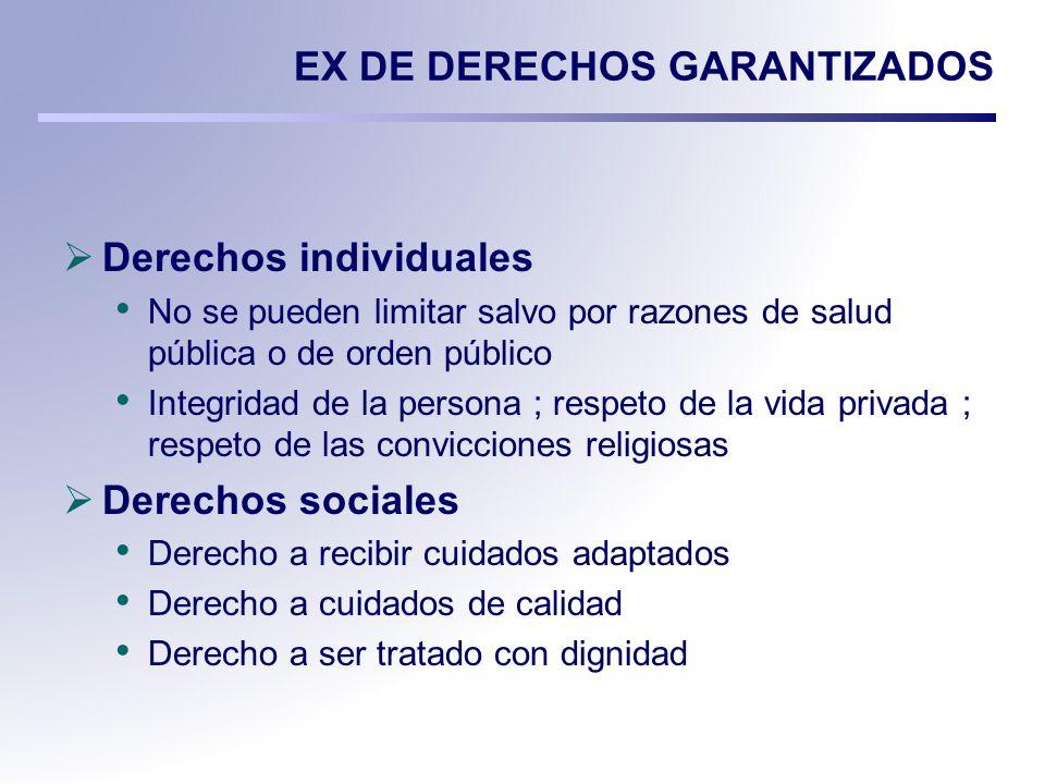 EX DE DERECHOS GARANTIZADOS