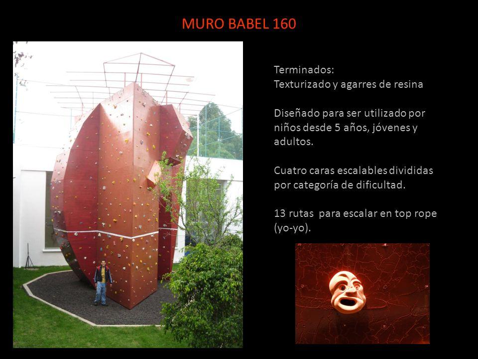 MURO BABEL 160 Terminados: Texturizado y agarres de resina