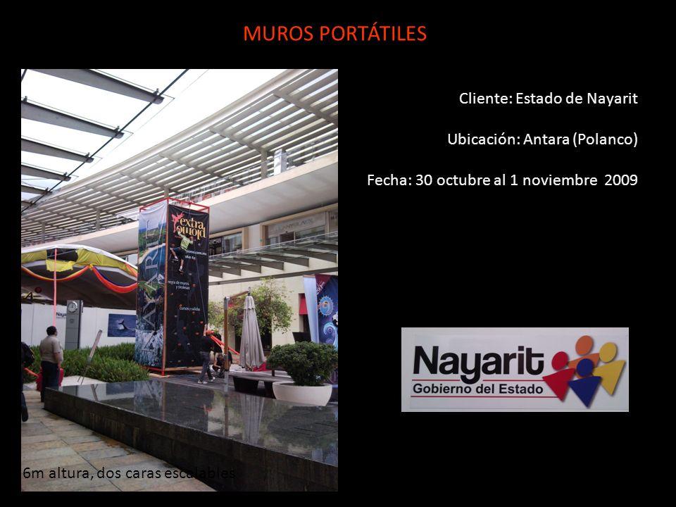 MUROS PORTÁTILES Cliente: Estado de Nayarit
