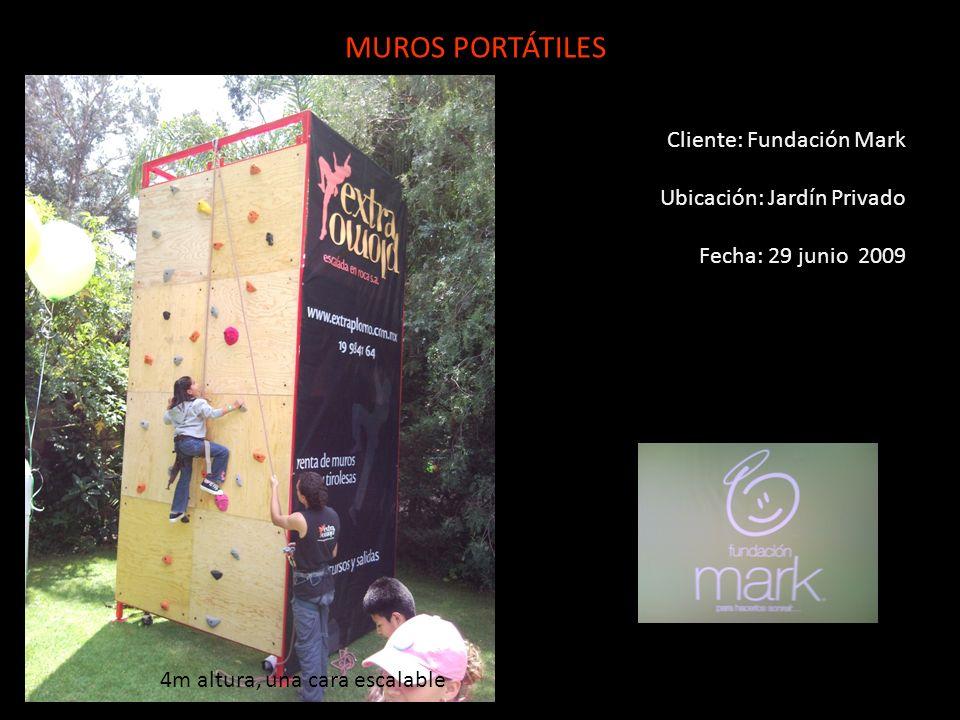 MUROS PORTÁTILES Cliente: Fundación Mark Ubicación: Jardín Privado