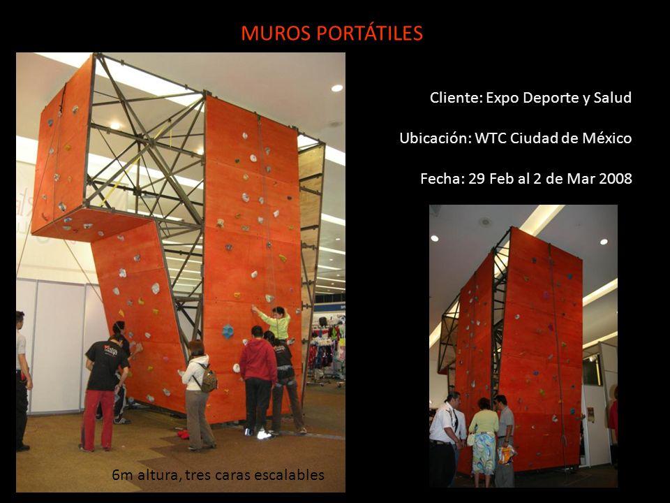 MUROS PORTÁTILES Cliente: Expo Deporte y Salud