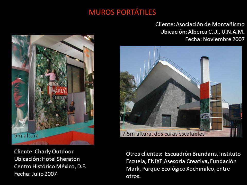 MUROS PORTÁTILES Cliente: Asociación de Montañismo