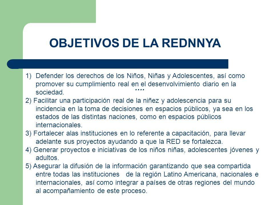 OBJETIVOS DE LA REDNNYA