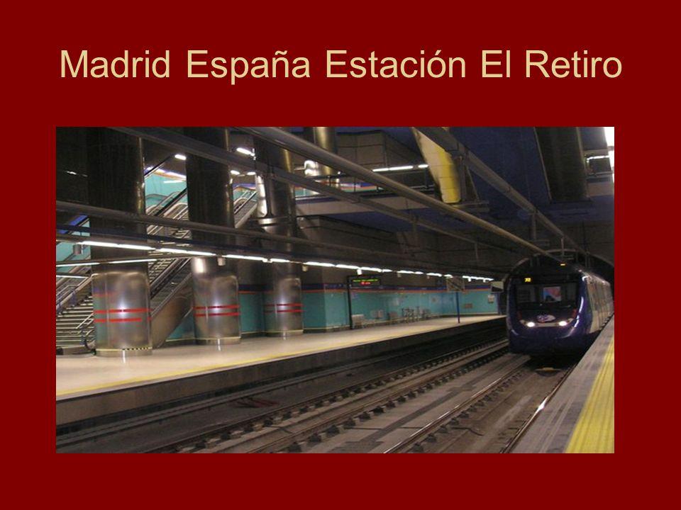Madrid España Estación El Retiro
