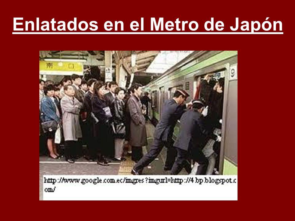 Enlatados en el Metro de Japón