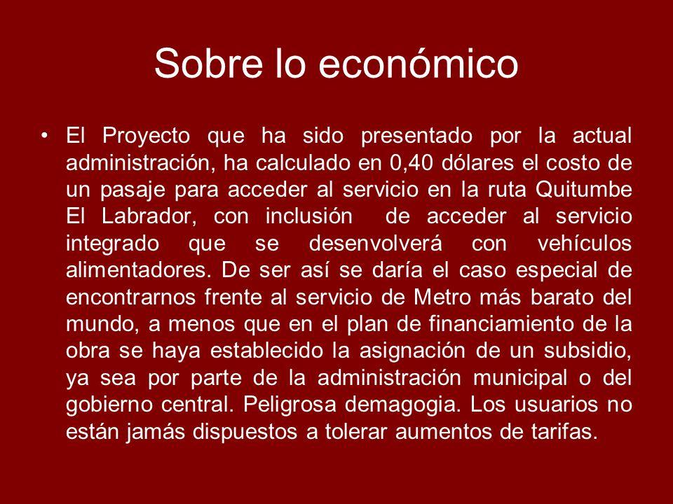 Sobre lo económico