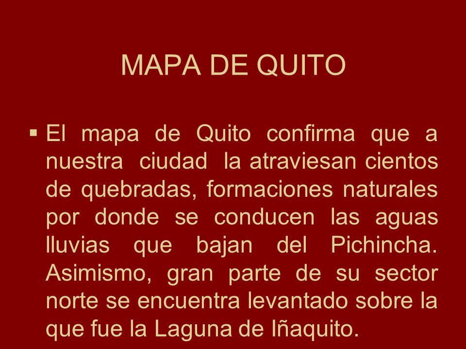 MAPA DE QUITO