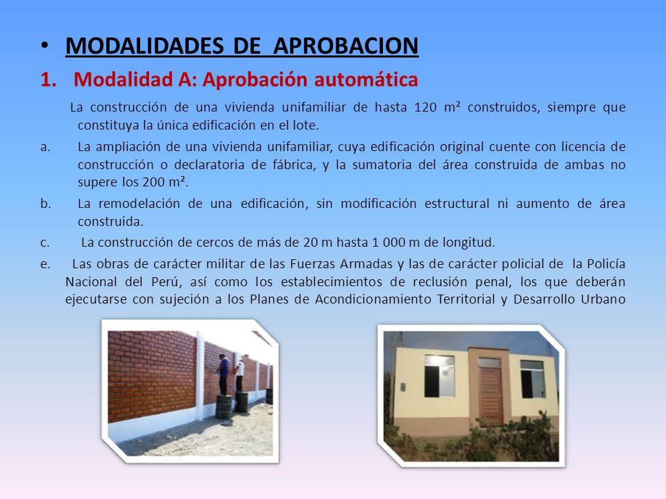 MODALIDADES DE APROBACION