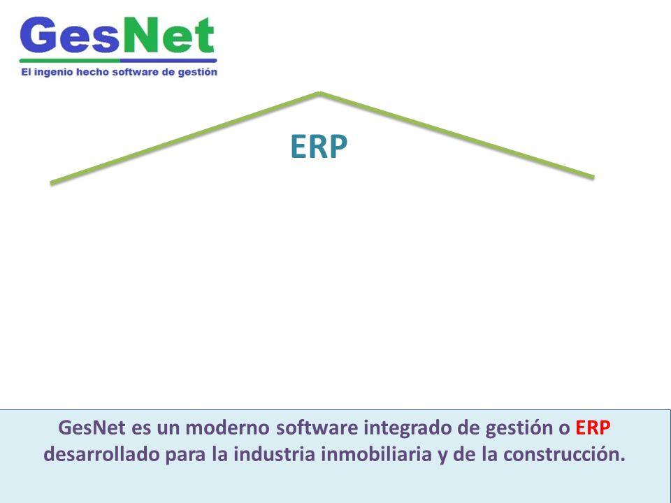ERP GesNet es un moderno software integrado de gestión