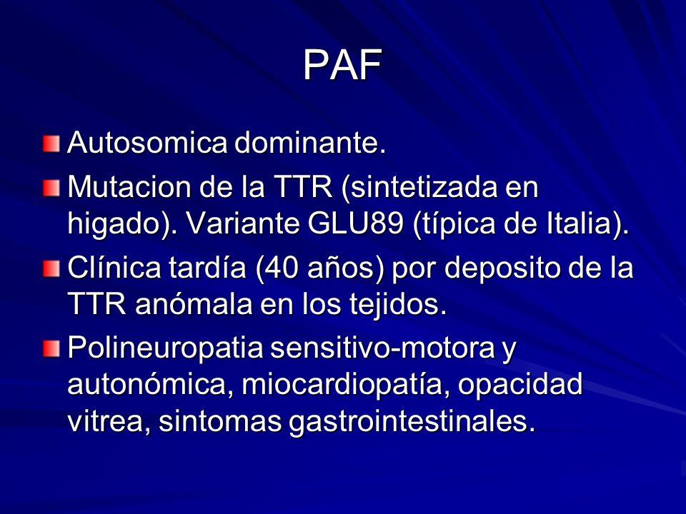 PAF Autosomica dominante.