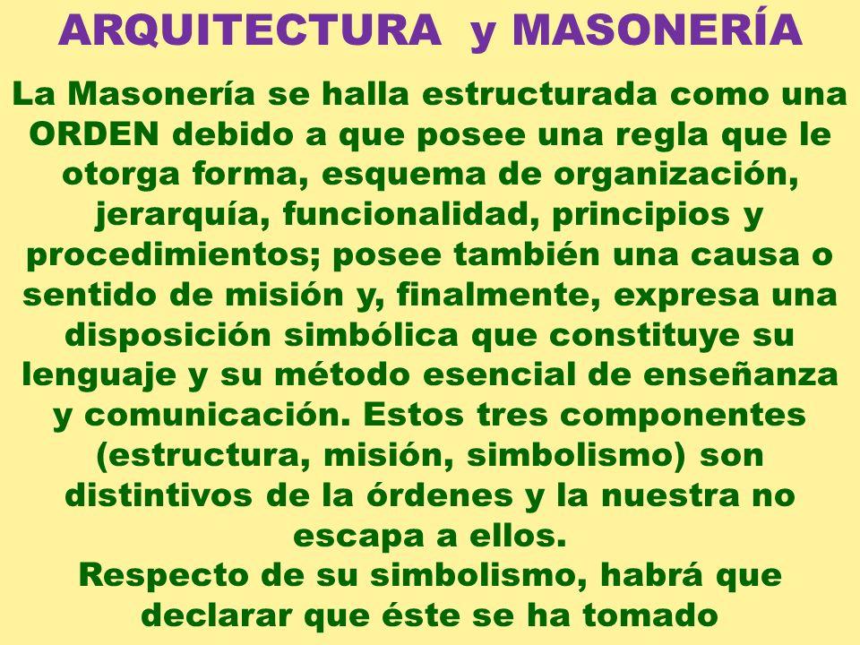 ARQUITECTURA y MASONERÍA