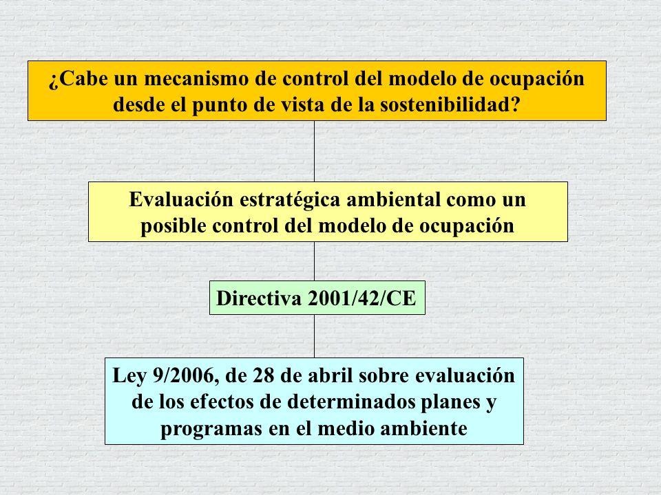 ¿Cabe un mecanismo de control del modelo de ocupación desde el punto de vista de la sostenibilidad