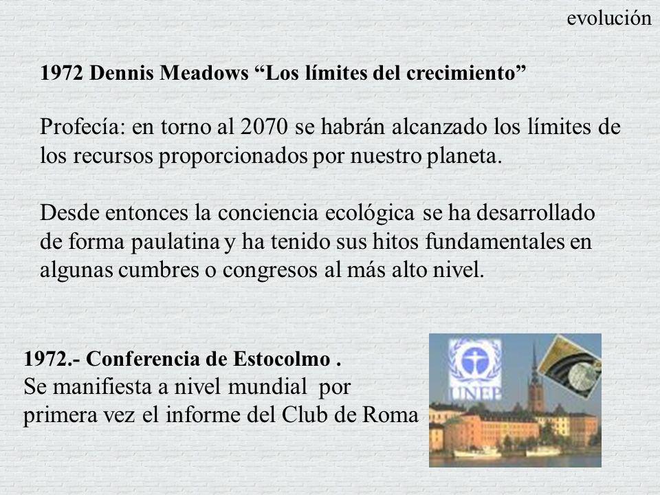 evolución 1972 Dennis Meadows Los límites del crecimiento