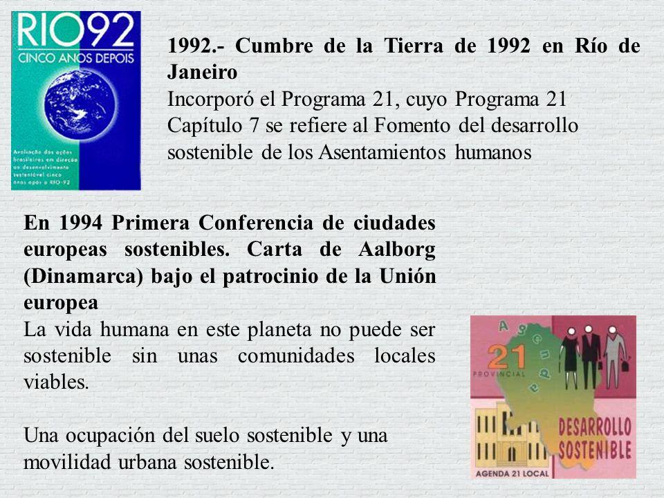 1992.- Cumbre de la Tierra de 1992 en Río de Janeiro