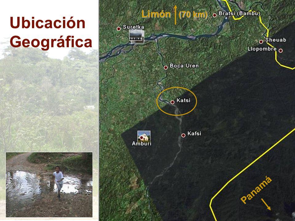 Ubicación Geográfica Limón (70 km) Panamá