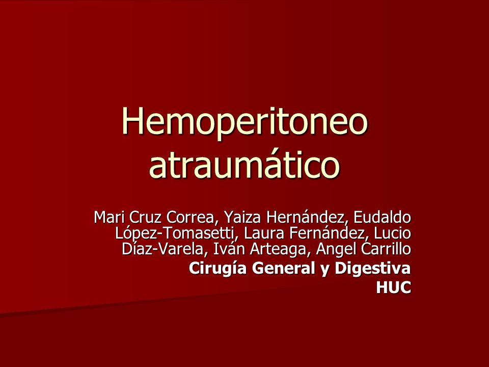 Hemoperitoneo atraumático