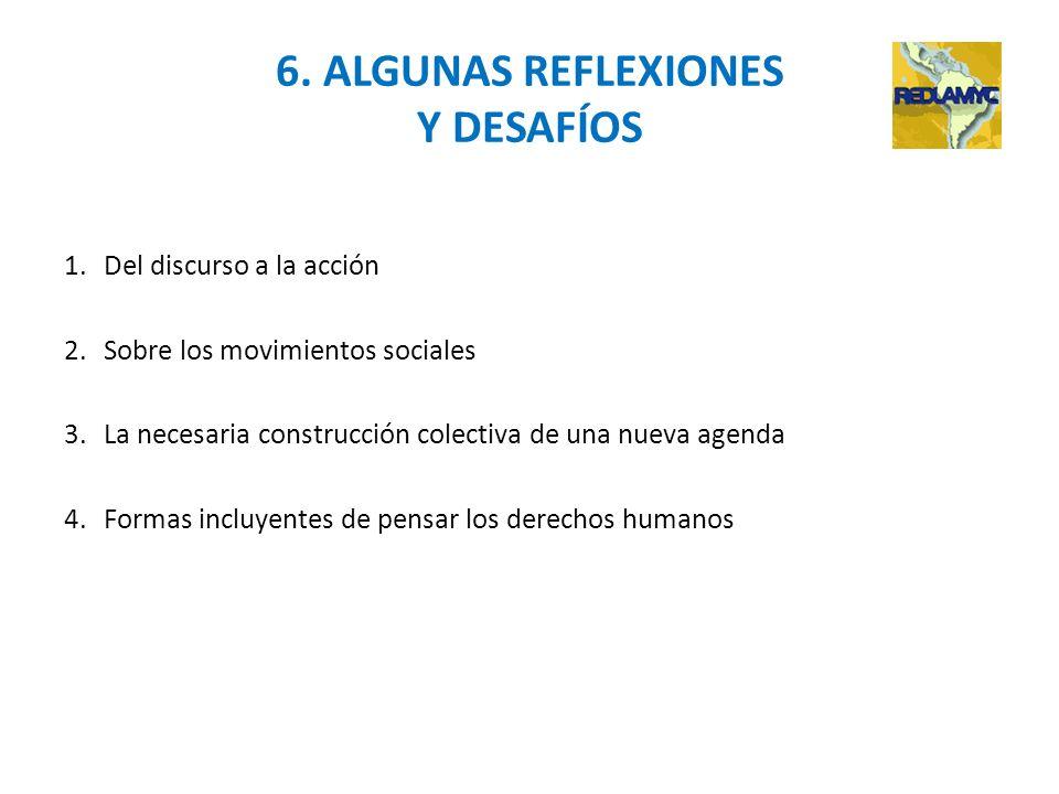 6. ALGUNAS REFLEXIONES Y DESAFÍOS