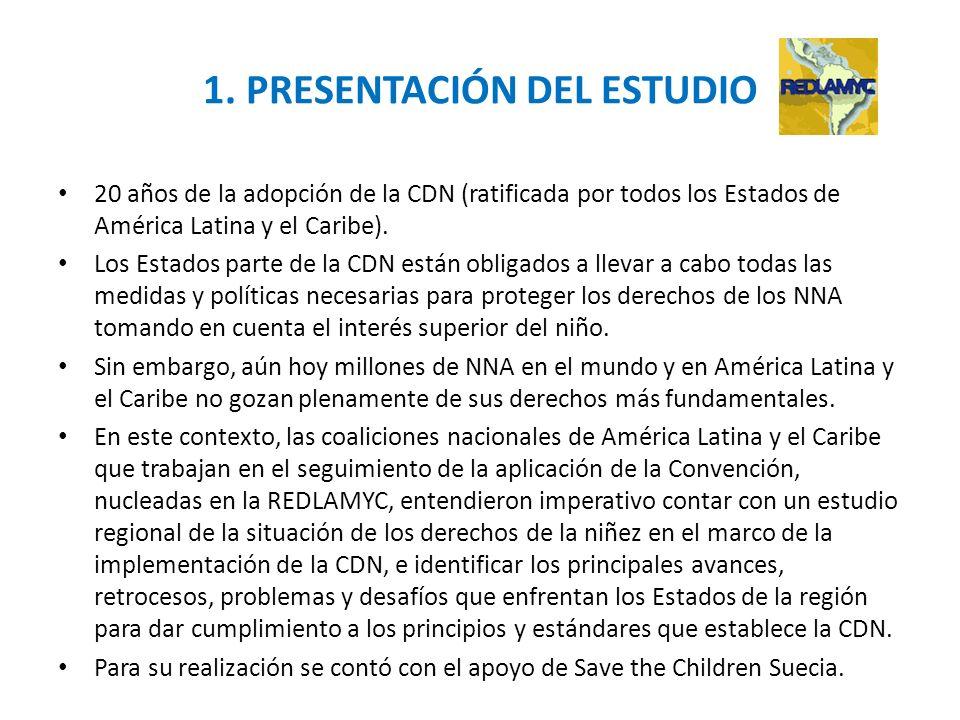 1. PRESENTACIÓN DEL ESTUDIO