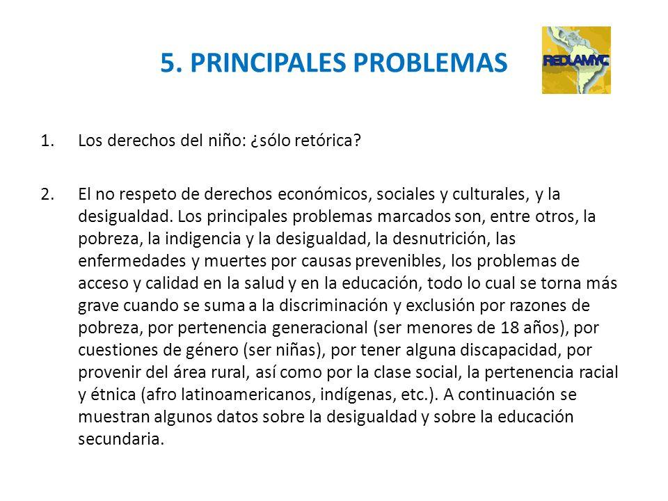 5. PRINCIPALES PROBLEMAS