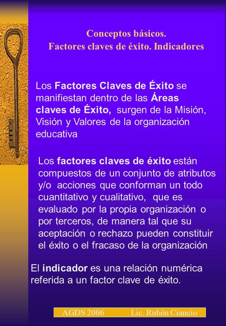 Conceptos básicos. Factores claves de éxito. Indicadores